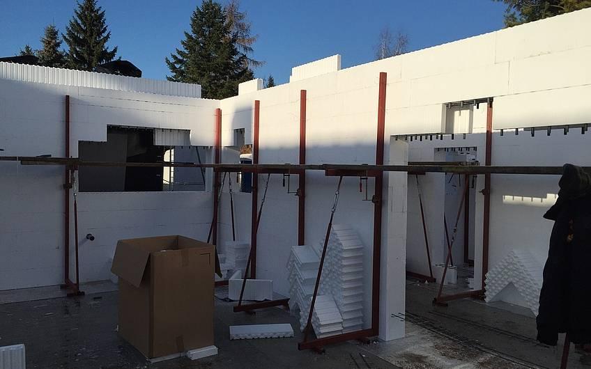 Errichtung Erdgeschoss Rohbau
