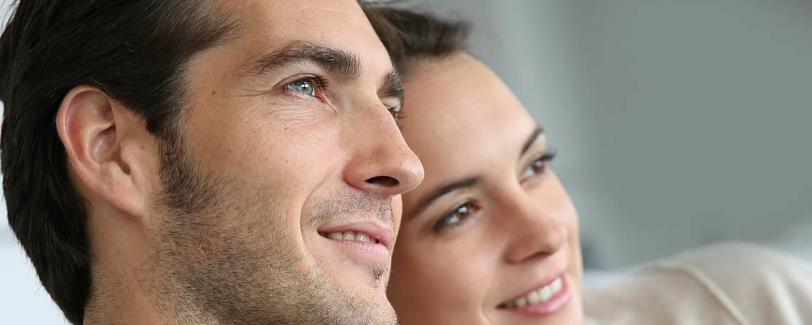 Paar mit Vertrauen