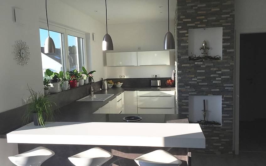 Die Küche im Obergeschoss