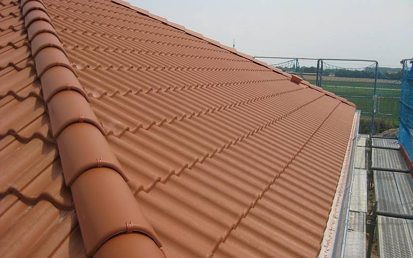 fertiggestellte Dacheindeckung