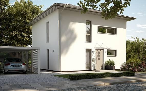 Massivhaus Kern-Haus Stadtvilla Novo Eingangsseite