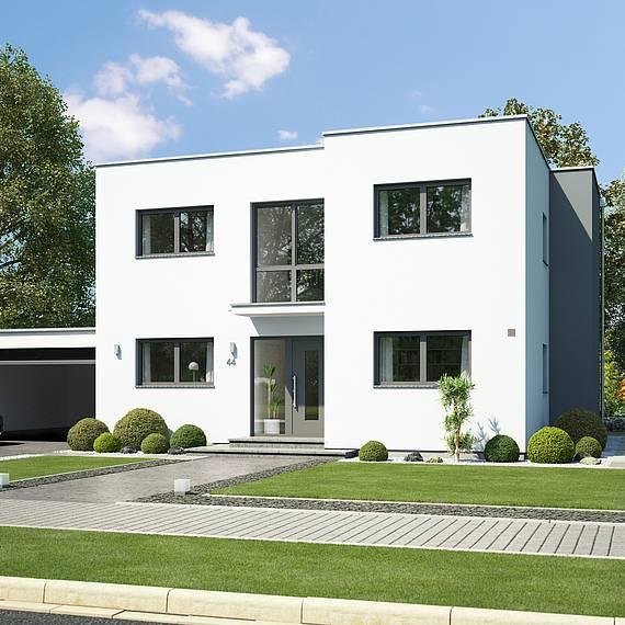 Massivhaus Kern-Haus Bauhaus Modus Eingangsseite
