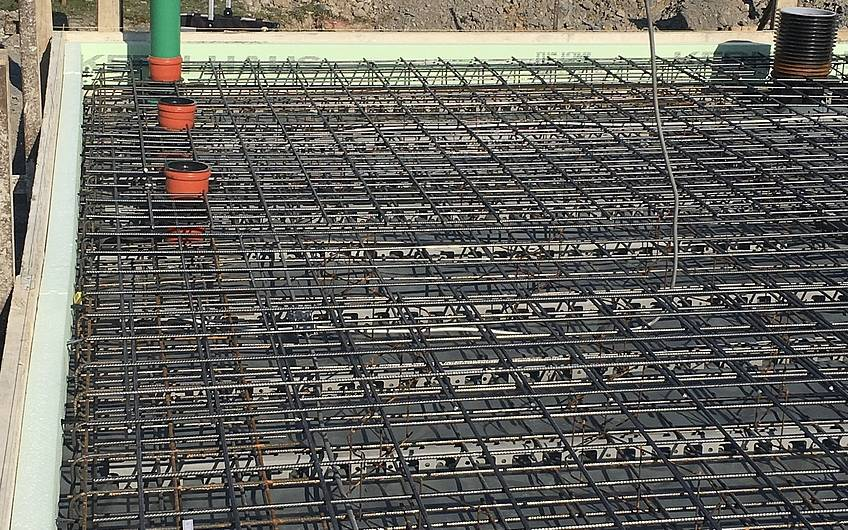 Vorbereitung Abwasserleitungen