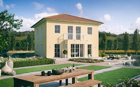 Massivhaus Kern-Haus Stadtvilla Riva Gartenseite
