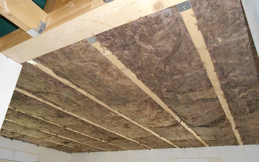Dämmung des Daches.