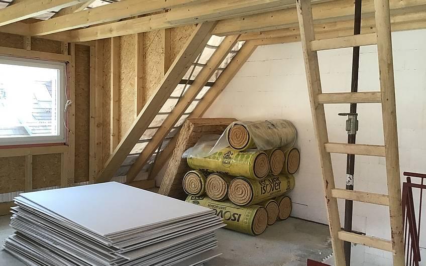 Obergeschoss und Dachstuhl