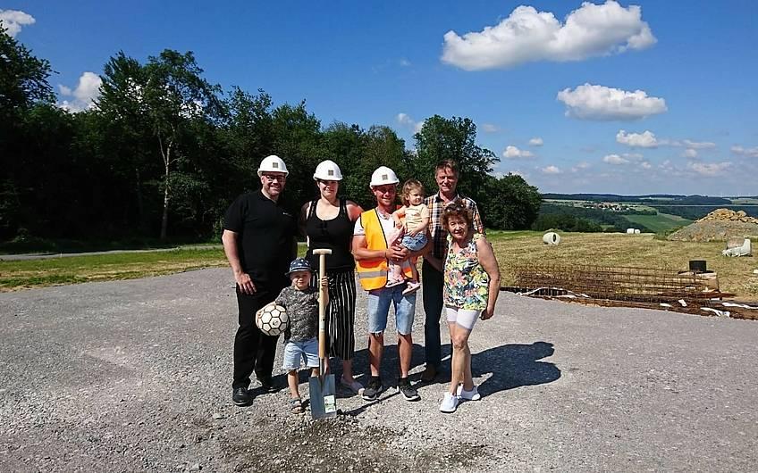 Grundsteinlegung für das Familienhaus Jano von Kern-Haus in Forchtenberg