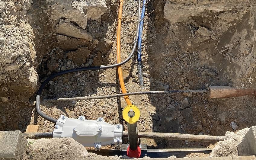 Strom, Gas, Wasser und Telekom Anschluss.
