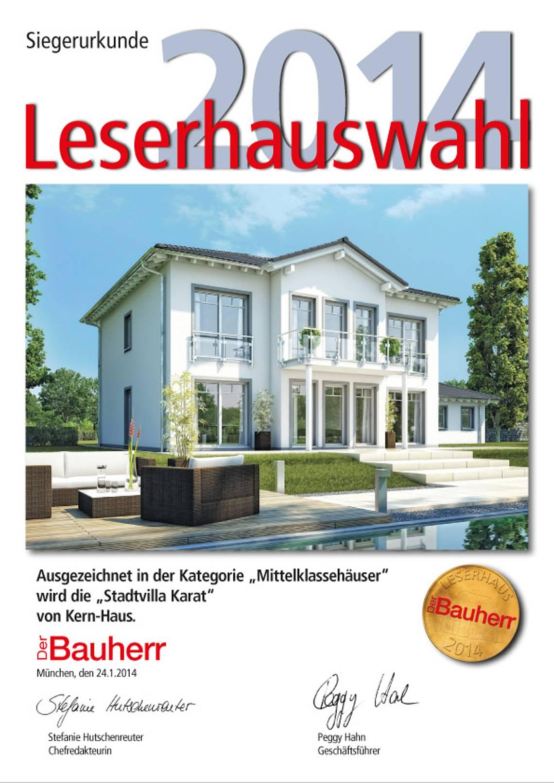 Urkunde Leserhauswahl 2014