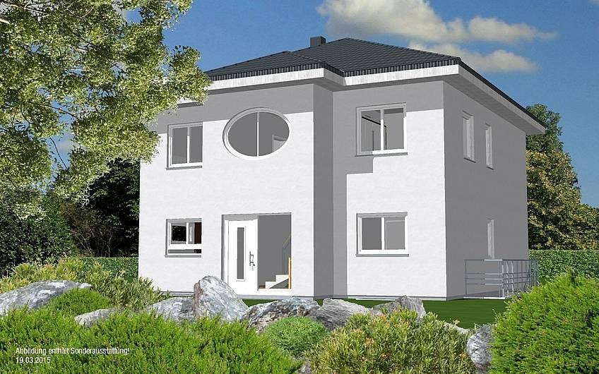 3D Planungsansicht der Hauseingangsseite