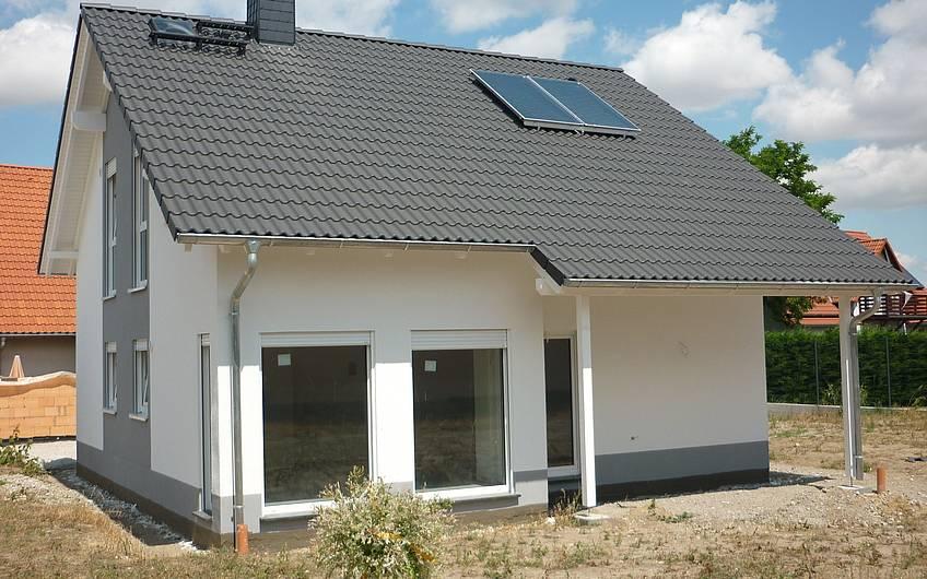 Anblick der Terrassenseite Kern-Haus Taucha