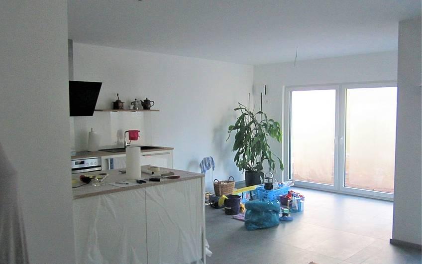 Der Aufbau der Küche wurde fertiggestellt.