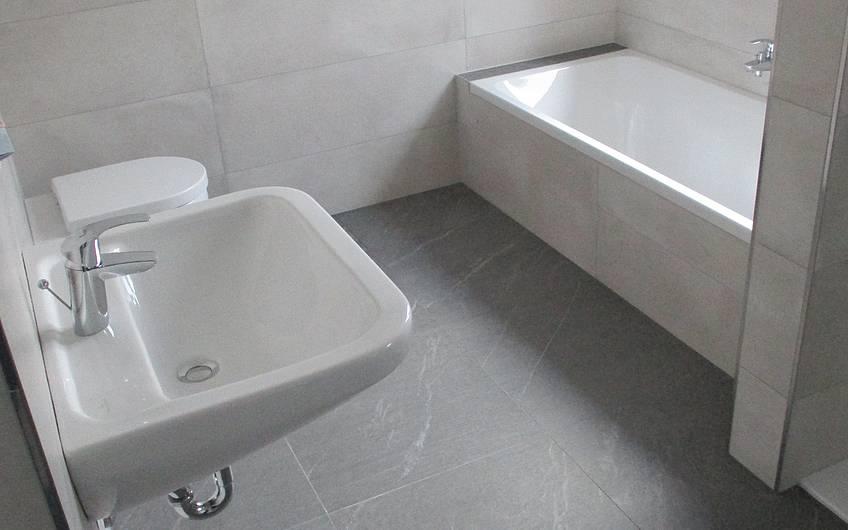 Fertiggestelltes Bad.