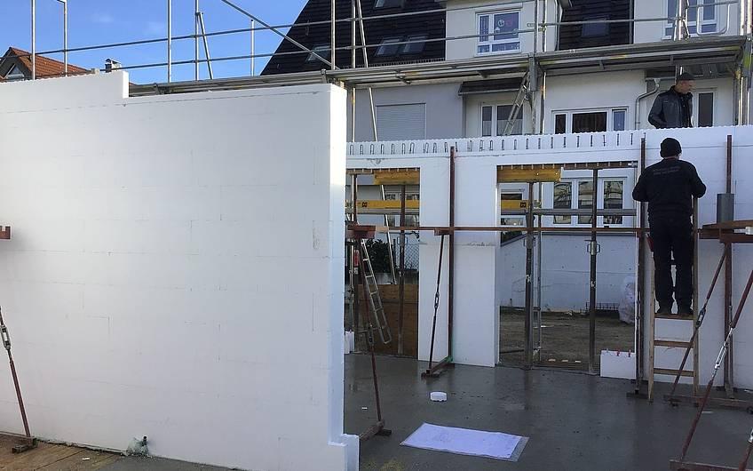 Aufbau Haus massiv