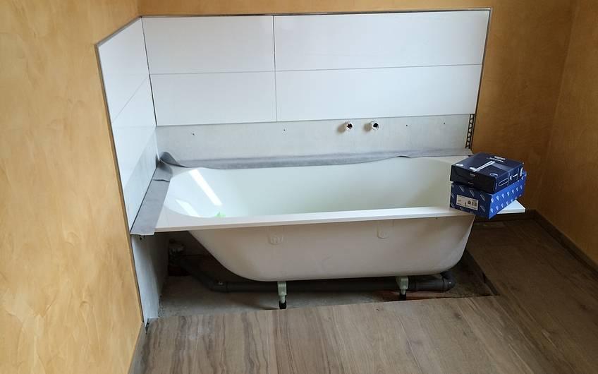 Nach Einbau der Badewanne