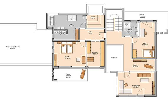 Kern-Haus Artea Grundriss Obergeschoss
