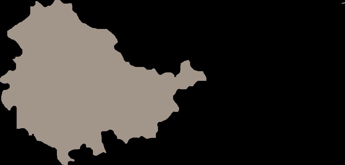 Karte Bundesland Thüringen