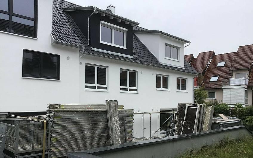 Individuell geplante Doppelhaushält Twin XXL von Kern-Haus in Korb ohne Gerüst