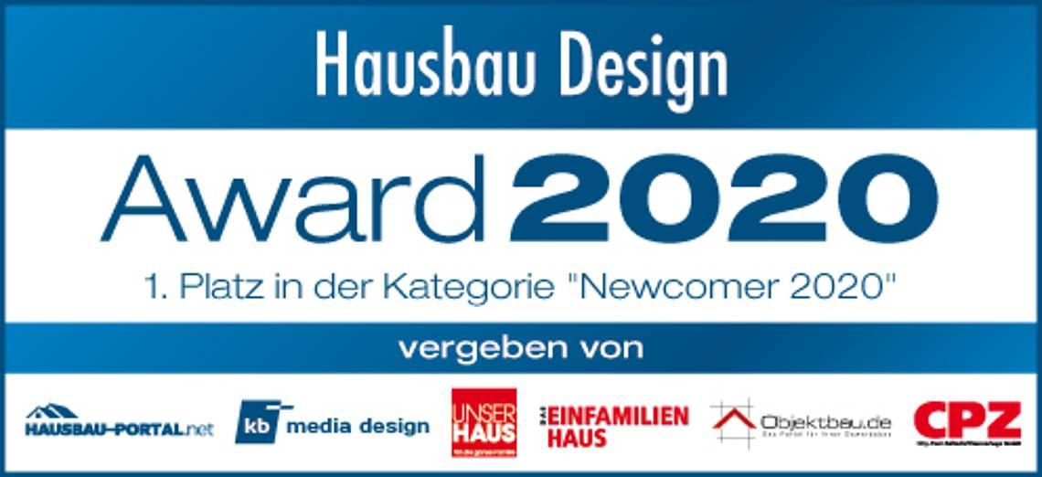 Hausbau Design Award 2020: Erster Platz Newcomer Stadtvilla Certo Kern-Haus
