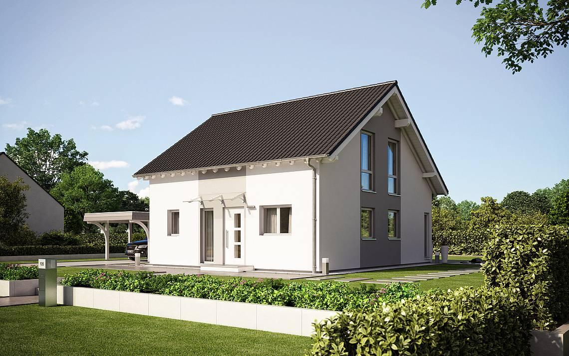 Massivhaus Kern-Haus Familienhaus Family Eingangsseite