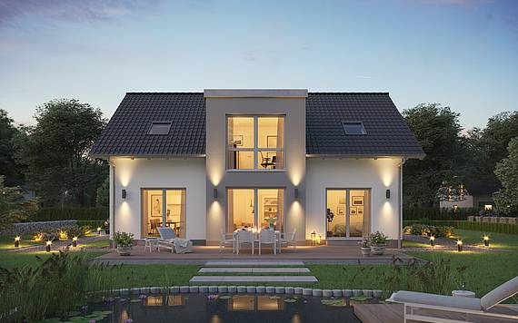 Massivhaus Kern-Haus Architektenhaus Auro Dämmerung