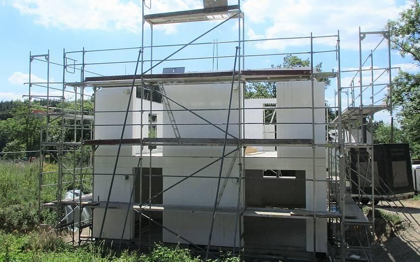 Aufbau des Dachgeschosses