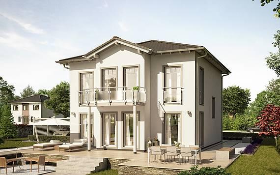 Massivhaus Kern-Haus Stadtvilla Saphir Gartenseite