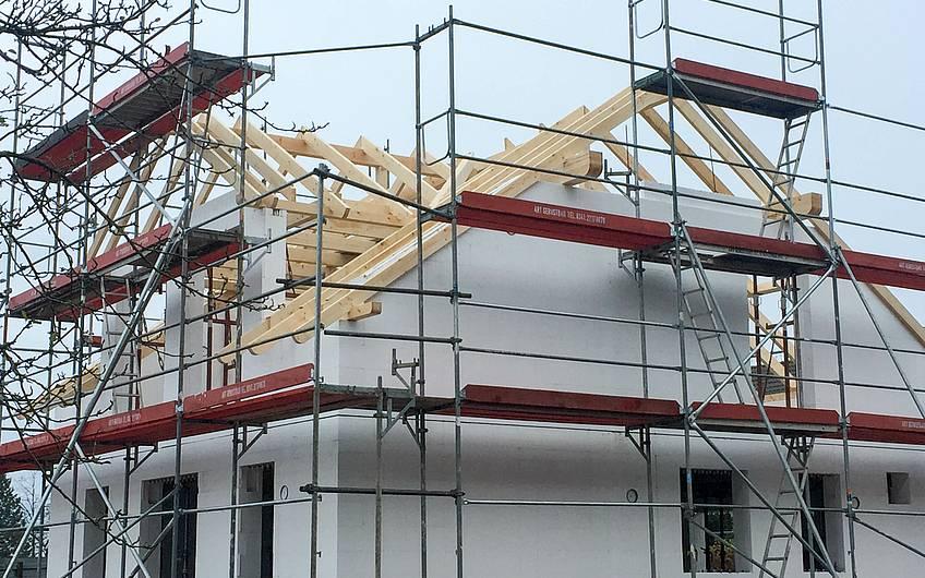 Errichten des Dachstuhls im Detail