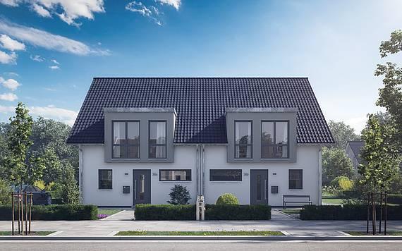 Kern-Haus Doppelhaushälfte Viseo Eingangsseite