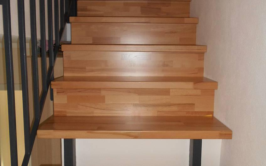 Verkleidete Treppe.