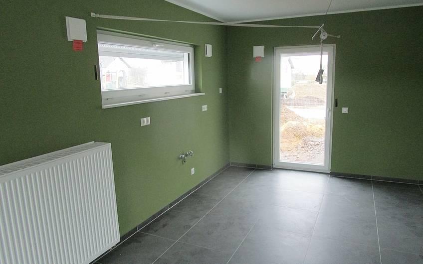 Die Wände in der Küche wurden gestrichen.