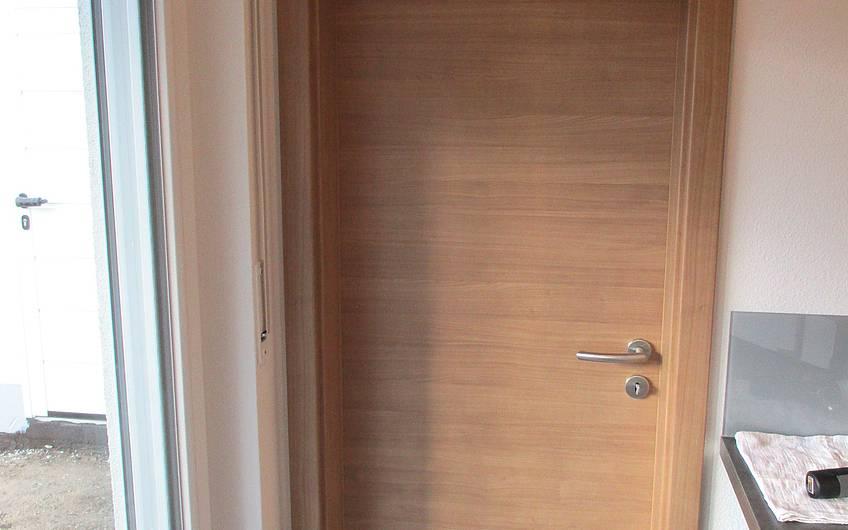 Eingebaute Türen.