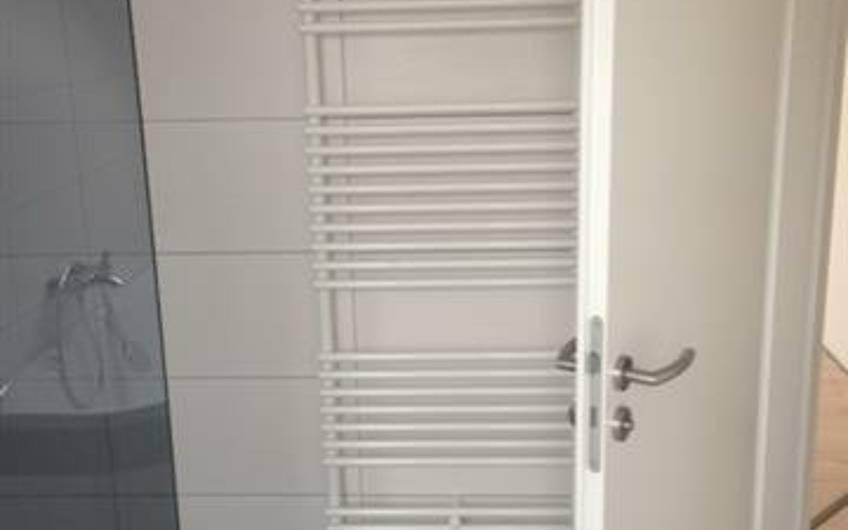 Der Heizkörper im Badezimmer