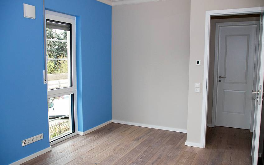 Zimmer blau Obergeschoss