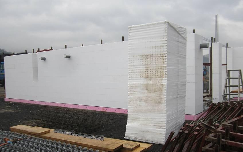 Errichtung Erdgeschoss