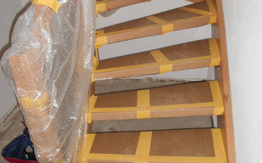 Eingebaute Treppe.