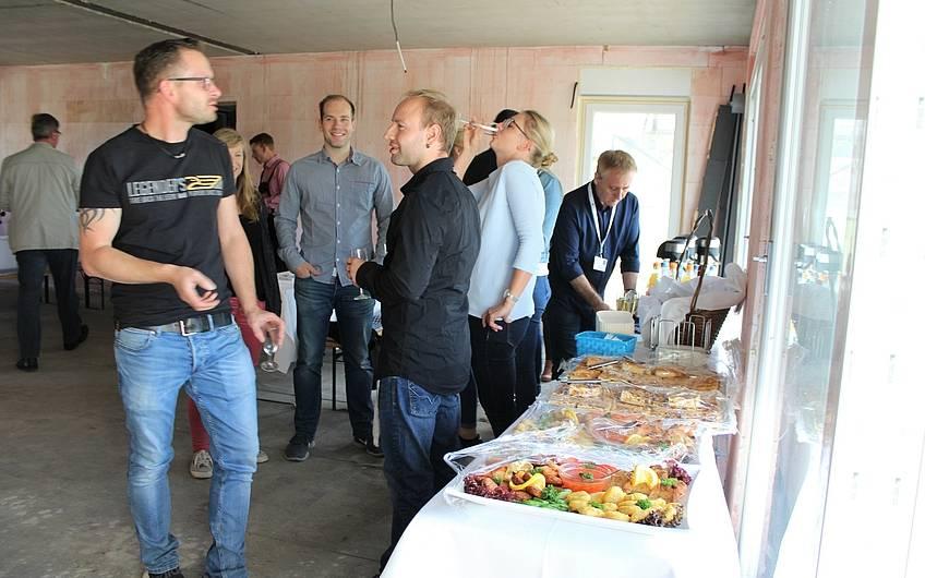Buffet zur Rohbaubesichtigung in Magdeburg-Diesdorf
