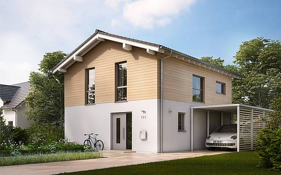 Kern-Haus Massivhaus Familienhaus Cara Eingangsseite