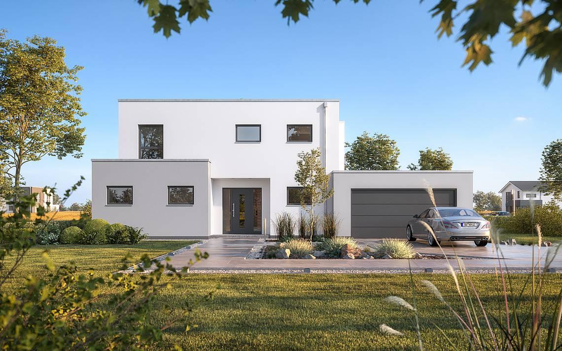 Massivhaus Kern-Haus Bauhaus Anteo Eingangsseite