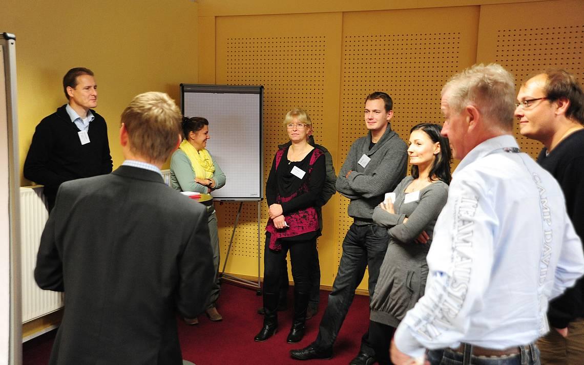 Kundenforum 2011: Präsentation von Kern-Haus-Kunden