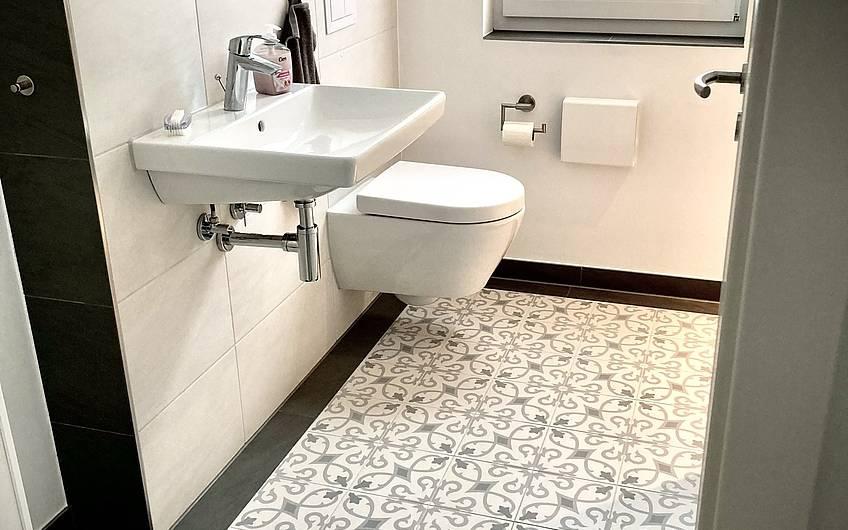 Schmuckstück! Das Gäste WC im Erdgeschoss ist toll geworden!