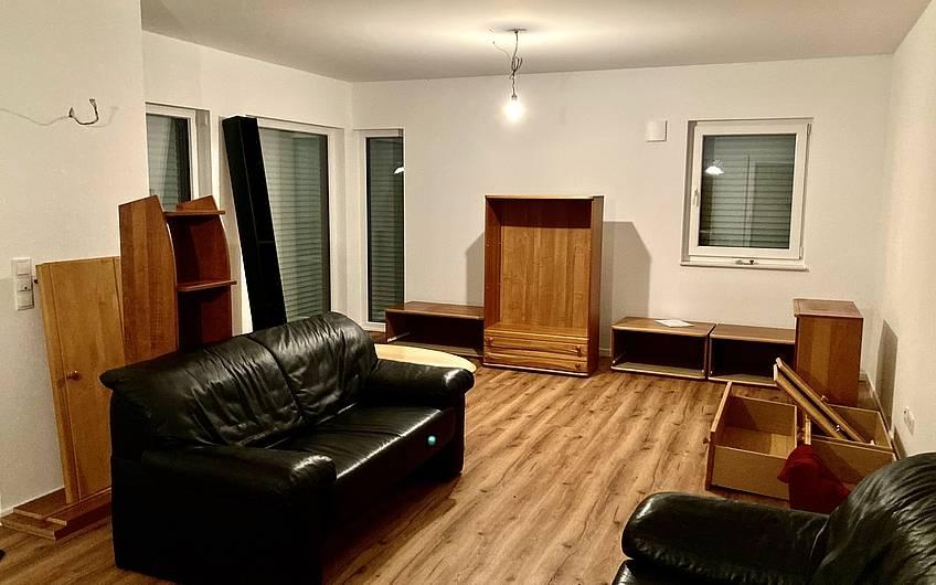 Alle Möbel finden ihren neuen Platz