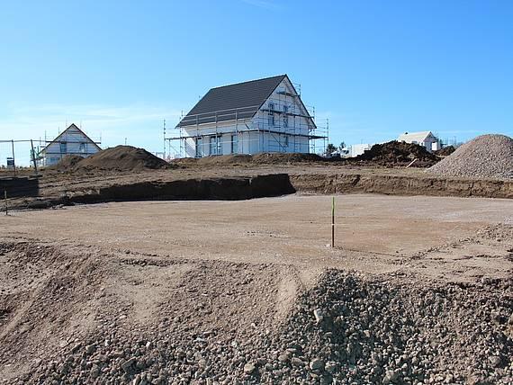 Tiefbauarbeiten sind abgeschlossen im Baugebiet Erfurt-Marbach