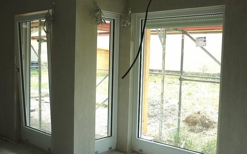 Innenputz an Außenwand Wohnzimmer