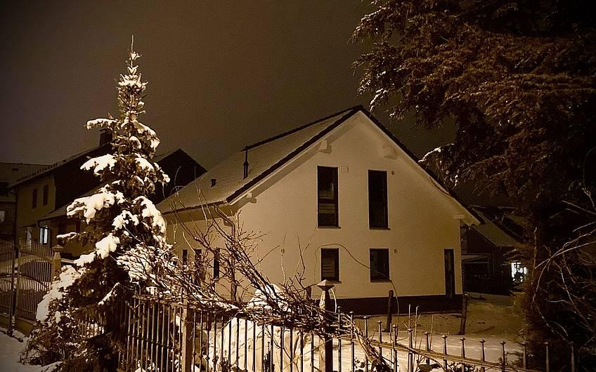Herrliche Stille breitet sich aus wenn der Schnee liegt.