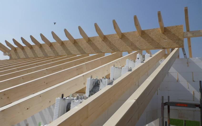 Dachstuhl des Einfamilienhauses Signum Plus von Kern-Haus in Talheim