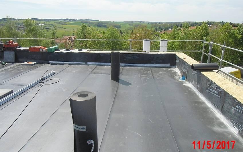 fertigstellung der dachabdichtung