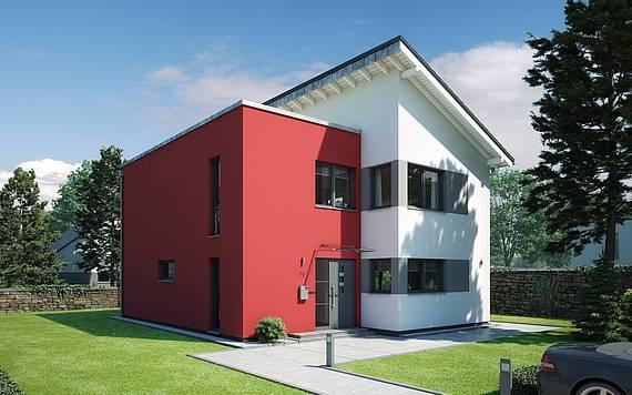 Massivhaus Kern-Haus Familienhaus Futura Eingangsseite