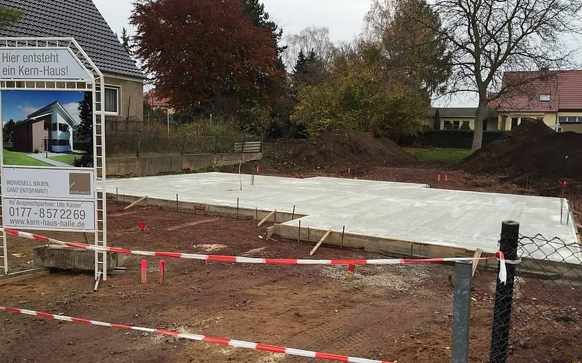 Fertigstellung Bodenplatte