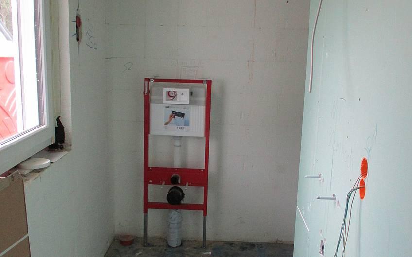 Ausgeführte Sanitärrohinstallation.